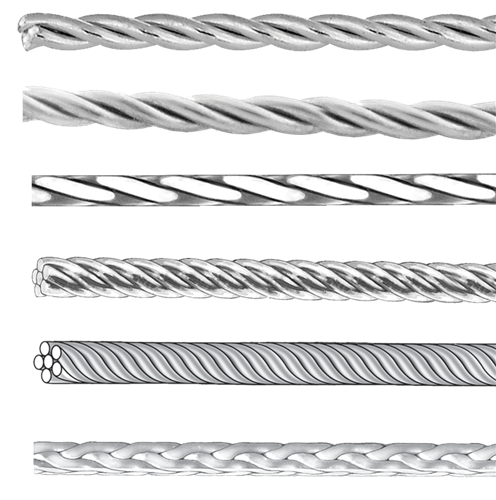 Coaxial 6 strand